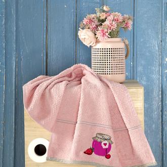 Кухонное полотенце Karna BREAKFAST хлопковая махра (абрикосовый)