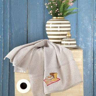 Кухонное полотенце Karna BREAKFAST хлопковая махра (бежевый)