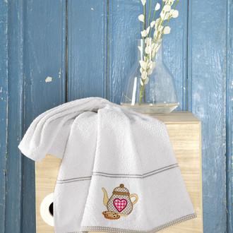 Кухонное полотенце Karna BREAKFAST хлопковая махра (кремовый)