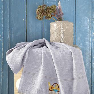Кухонное полотенце Karna BREAKFAST хлопковая махра (серый)