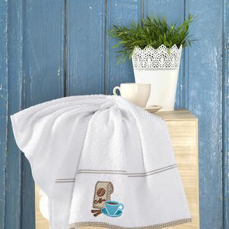 Кухонное полотенце Karna BREAKFAST хлопковая махра (белый)