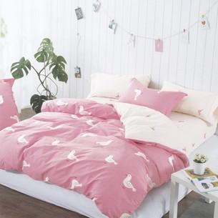 Комплект подросткового постельного белья Karna DELUX ALIEN хлопковый сатин 1,5 спальный