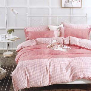 Комплект подросткового постельного белья Karna DELUX SERVIN хлопковый сатин абрикосовый 1,5 спальный