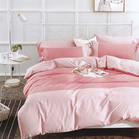 Комплект подросткового постельного белья Karna DELUX SERVIN хлопковый сатин абрикосовый 1,5 спальный, фото, фотография