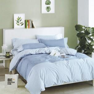 Комплект подросткового постельного белья Karna DELUX SERVIN хлопковый сатин сиреневый 1,5 спальный