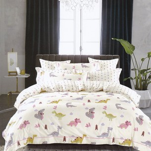 Комплект подросткового постельного белья Karna DELUX TALEN хлопковый сатин V2 1,5 спальный