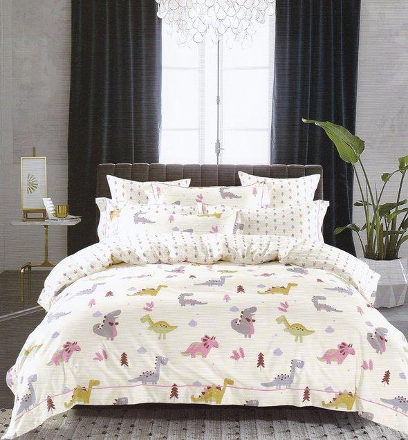 Комплект подросткового постельного белья Karna DELUX TALEN хлопковый сатин V2 1,5 спальный, фото, фотография