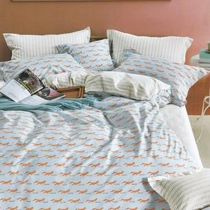 Комплект подросткового постельного белья Karna DELUX BRIAND хлопковый сатин 1,5 спальный