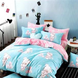 Комплект подросткового постельного белья Karna DELUX MARE хлопковый сатин 1,5 спальный