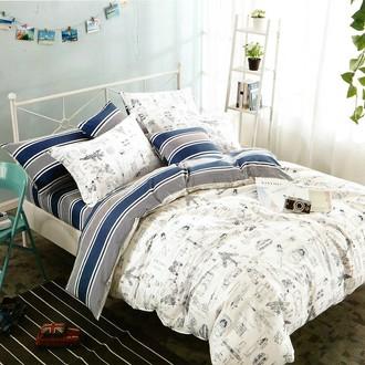 Комплект подросткового постельного белья Karna DELUX FONTA хлопковый сатин