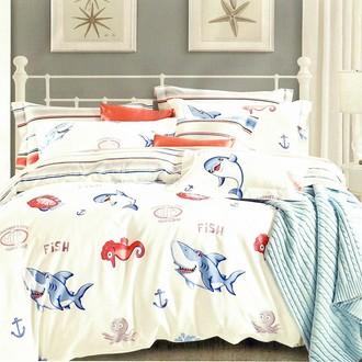 Комплект подросткового постельного белья Karna DELUX SEARLE хлопковый сатин