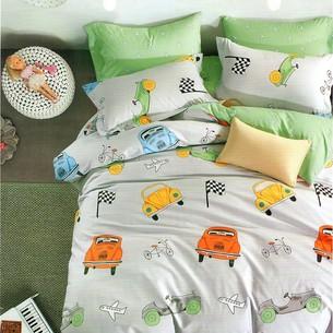 Комплект подросткового постельного белья Karna DELUX RULE хлопковый сатин 1,5 спальный