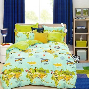 Комплект подросткового постельного белья Karna DELUX TROY хлопковый сатин 1,5 спальный