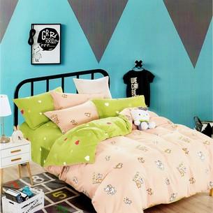 Комплект подросткового постельного белья Karna DELUX DOBY хлопковый сатин 1,5 спальный