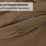 Простынь на резинке Karna ACELYA хлопковый трикотаж бежевый 160х200+30, фото, фотография
