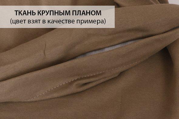 Простынь на резинке Karna ACELYA хлопковый трикотаж бежевый 160*200+30, фото, фотография