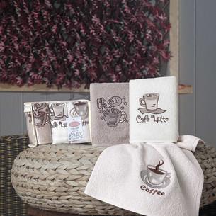 Набор кухонных полотенец Karna CAFE PRIMA хлопковая махра V1