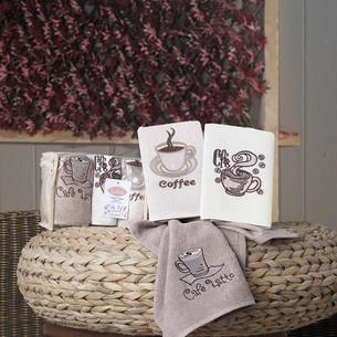 Набор кухонных полотенец Karna CAFE PRIMA хлопковая махра V2