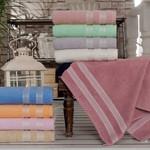 Полотенце для ванной Karna PETEK хлопковая махра синий 100х150, фото, фотография
