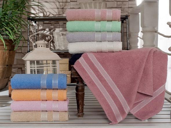 Полотенце для ванной Karna PETEK хлопковая махра синий 30*30, фото, фотография