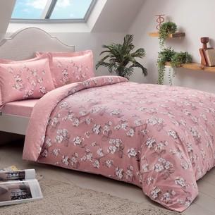 Постельное белье TAC HAPPY DAYS LENNIE хлопковый сатин розовый семейный