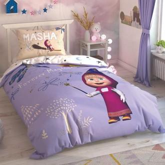 Комплект детского постельного белья TAC MASHA AND THE BEAR MAGICAL хлопковый ранфорс