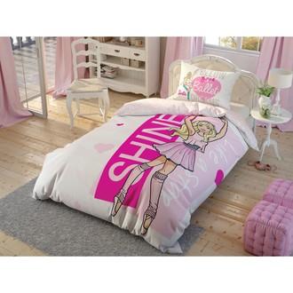 Комплект детского постельного белья TAC BARBIE BALLET хлопковый ранфорс