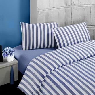 Постельное белье Karna MELAN хлопковый трикотаж (голубой)