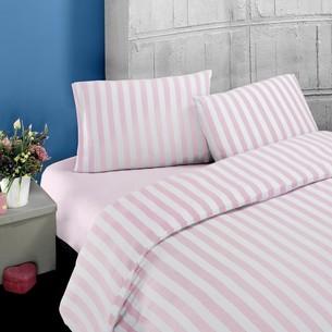 Постельное белье Karna MELAN хлопковый трикотаж пудра 1,5 спальный