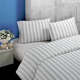 Постельное белье Karna MELAN хлопковый трикотаж бежевый 1,5 спальный