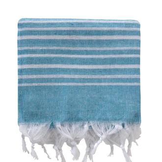 Полотенце пештемаль для бани, сауны, пляжа Karna PESHTEMAL хлопок (V9)