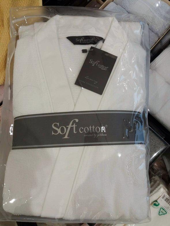 Халат мужской Soft Cotton PALATIN хлопковая махра антрацит L, фото, фотография