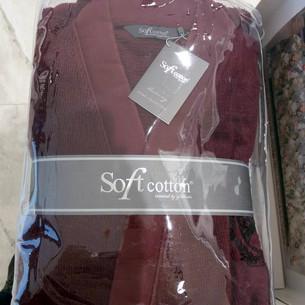 Халат мужской Soft Cotton PALATIN хлопковая махра бордовый M