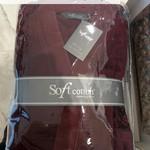 Халат мужской Soft Cotton DELUXE хлопковая махра голубой S, фото, фотография