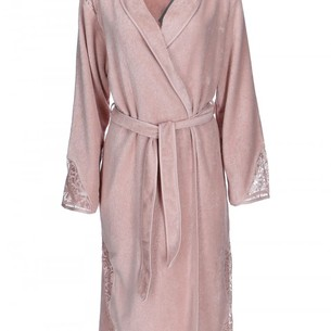 Халат женский Soft Cotton HAZEL хлопковая махра грязно-розовый L
