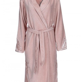 Халат женский Soft Cotton HAZEL хлопковая махра грязно-розовый