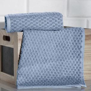 Кухонное полотенце Karna DAMA хлопковая махра голубой 40х60