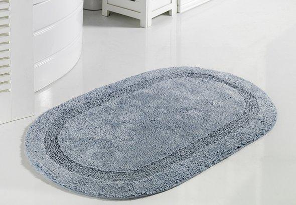 Коврик для ванной Modalin RACET хлопок (голубой) 60*100, фото, фотография