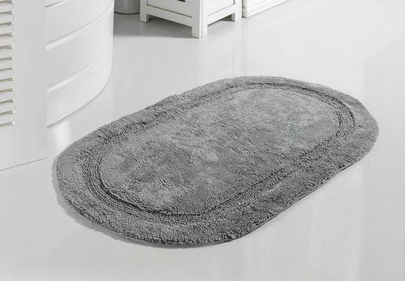 Коврик для ванной Modalin RACET хлопок (серый) 60*100, фото, фотография