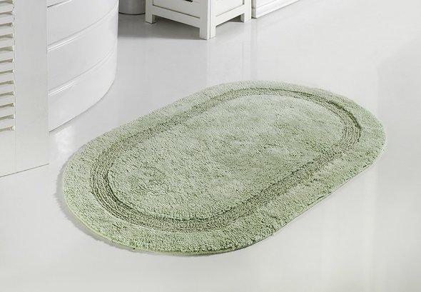 Коврик для ванной Modalin RACET хлопок (светло-зелёный) 60*100, фото, фотография