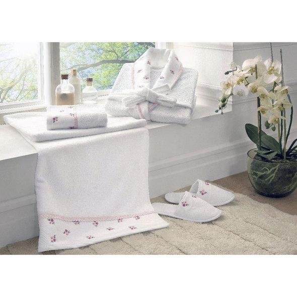 Подарочный набор с халатом Tivolyo Home PICCOLO хлопковая махра (розовый) S/M, фото, фотография