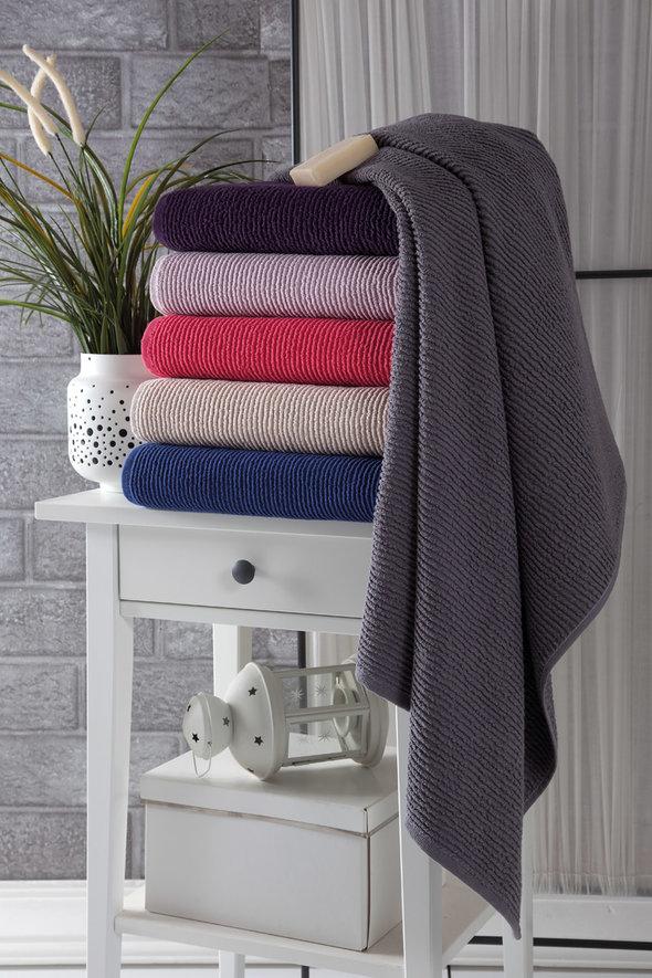 Полотенце для ванной Karna LINDA хлопковая махра бежевый 50*80, фото, фотография