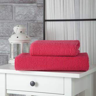 Полотенце для ванной Karna LINDA хлопковая махра (фуксия)