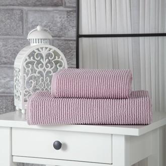 Полотенце для ванной Karna LINDA хлопковая махра (светло-лавандовый)