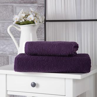 Полотенце для ванной Karna LINDA хлопковая махра фиолетовый 50*80