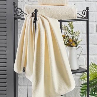 Полотенце для ванной Karna EFOR хлопковая махра (экрю)