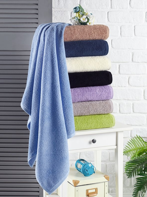 Полотенце для ванной Karna EFOR хлопковая махра (экрю) 40*60, фото, фотография