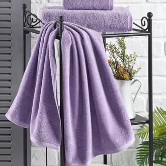 Полотенце для ванной Karna EFOR хлопковая махра сиреневый