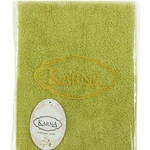 Полотенце для ванной Karna EFOR хлопковая махра экрю 40х60, фото, фотография