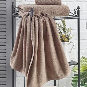 Полотенце для ванной Karna EFOR хлопковая махра бежевый 50х100